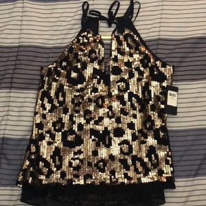 Guess hold sequin black shirt - women's size S